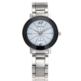 Classic Quartz Creative Couple Watch Stainless Steel Minimalist Watch Casual Wrist Watch Gifts for Couple Watches