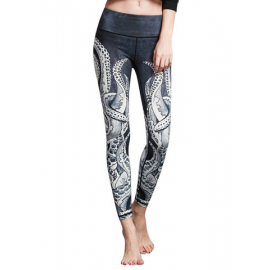 5 Colors Printed Stretch Workout Pants for Women for Pants & Leggings